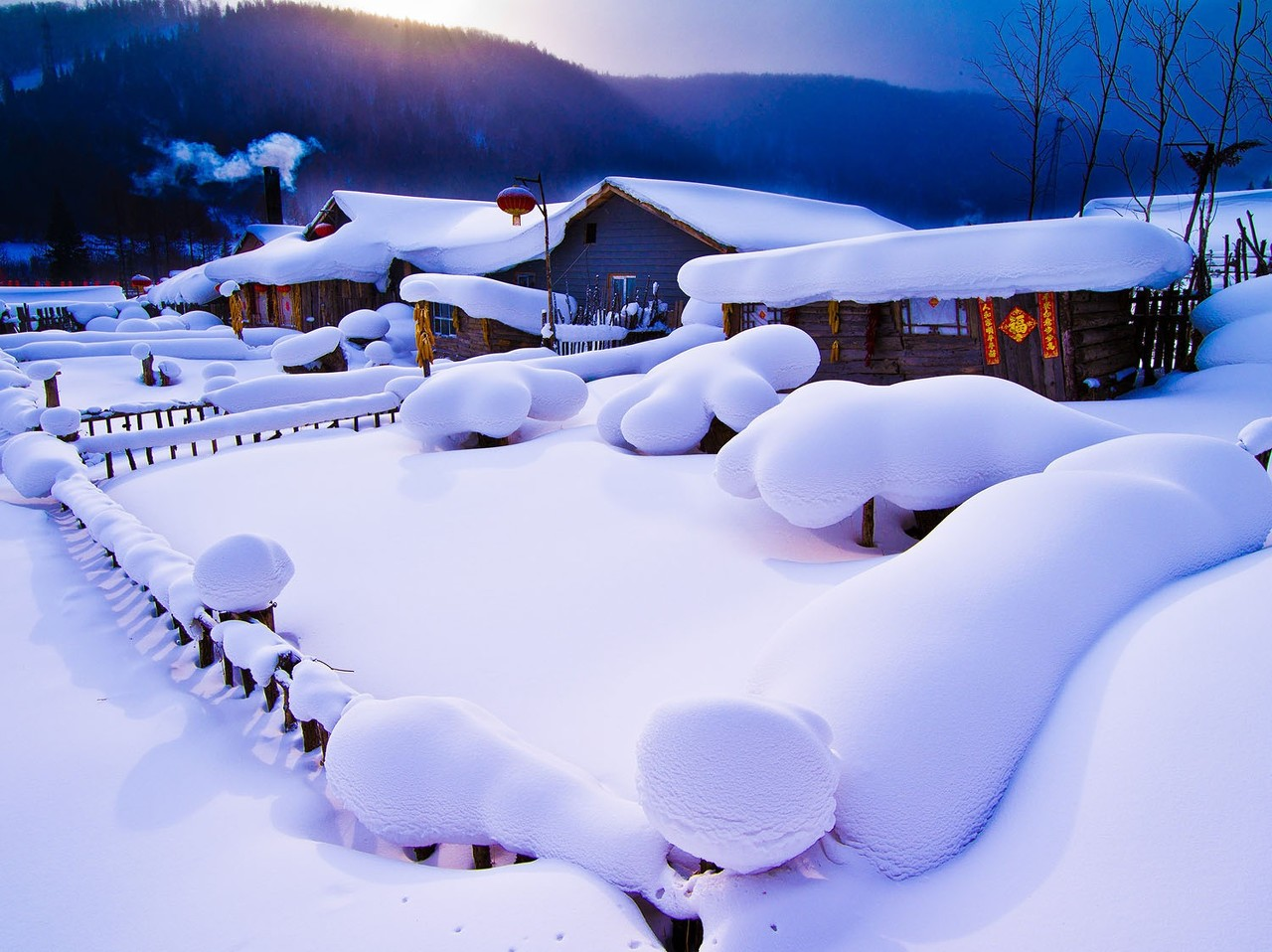 哈尔滨、亚布力滑雪、二浪河团圆客栈、中国雪乡、冰雪画廊双飞6日游