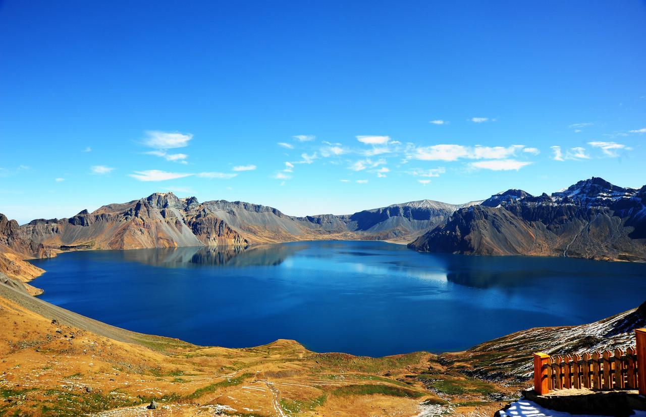 长白山全景、万达度假区、冰水泉、江域吉林双高六日