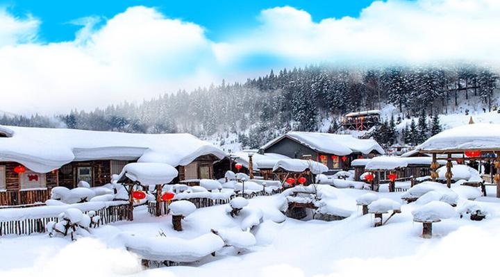 【冰城哈尔滨·亚布力激情滑雪·冰凌谷·雪地温泉·童话雪乡·俄罗斯家访·中央大街、漠河、北极村】